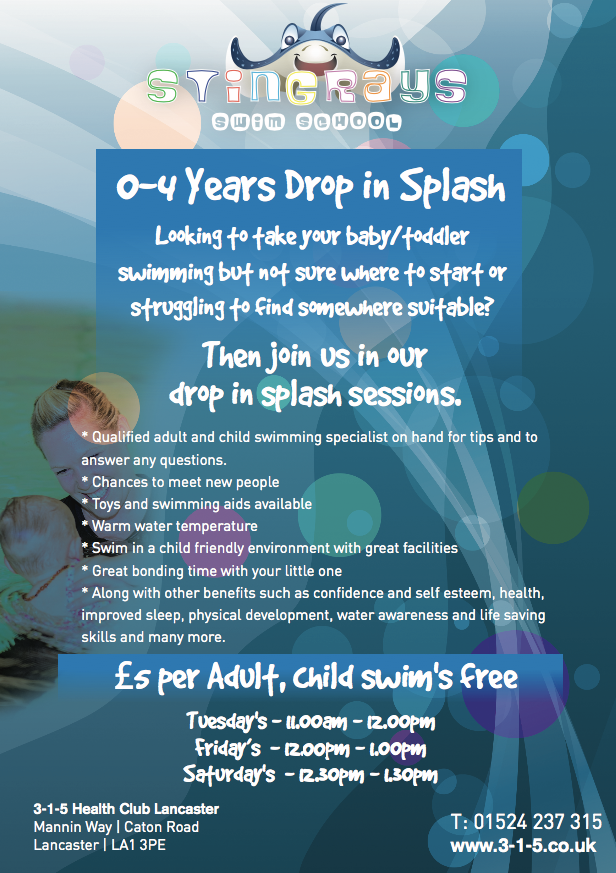 Drop in Splash for 0 - 4 years!