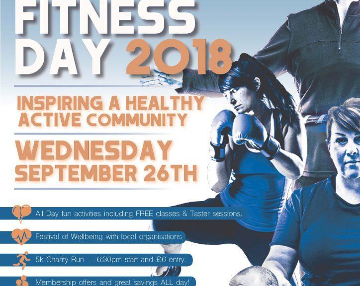 National Fitness Day Wednesday 26th September 2018
