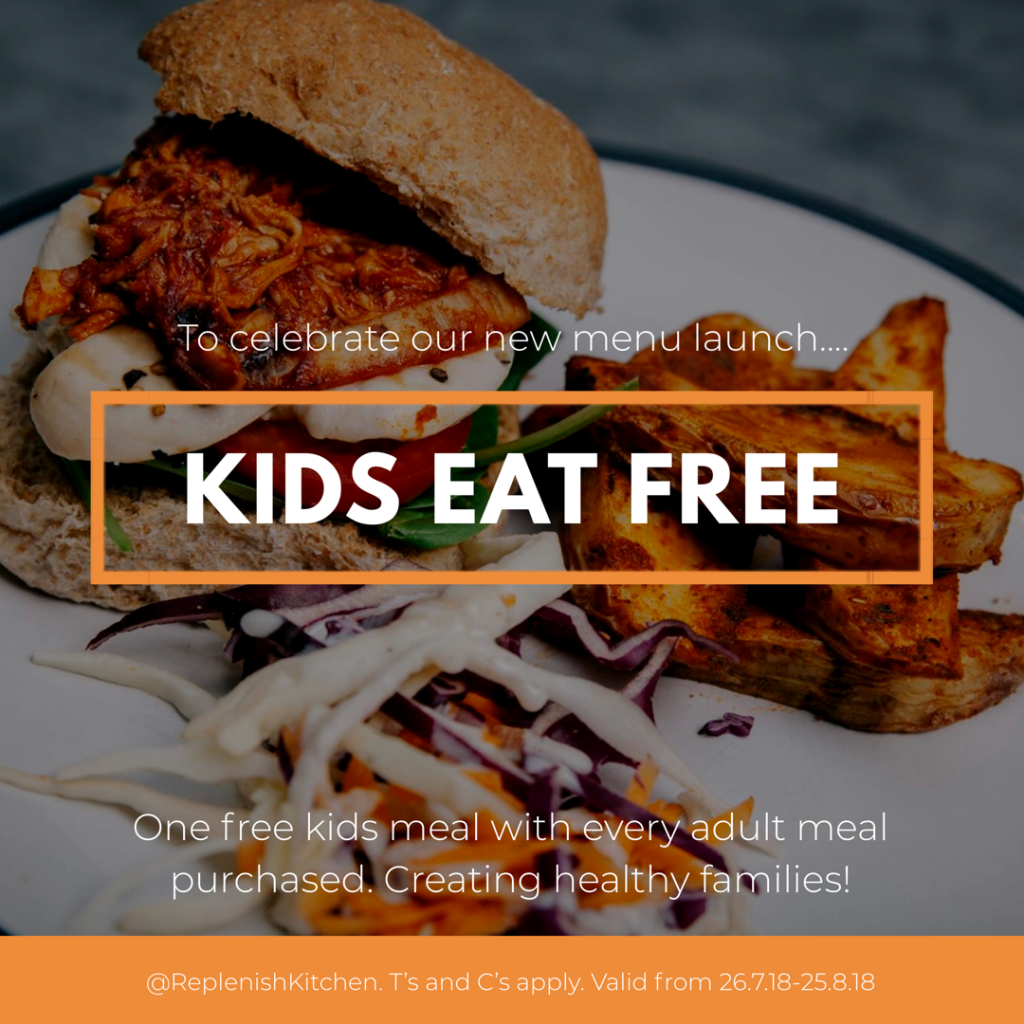 Kids Eat Free - Replenish Kitchen at 3-1-5 Health club