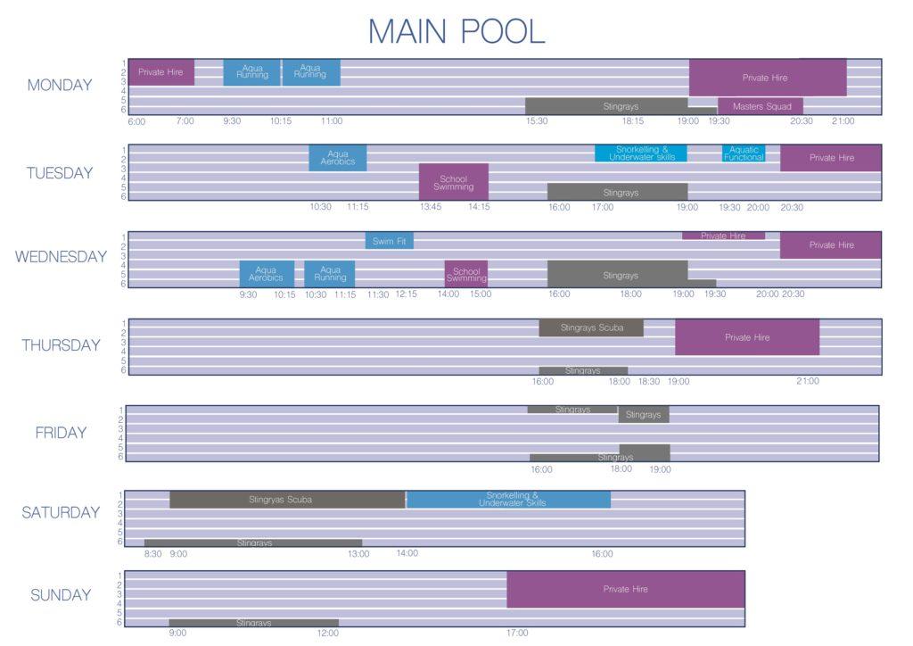 Pool schedule 2020