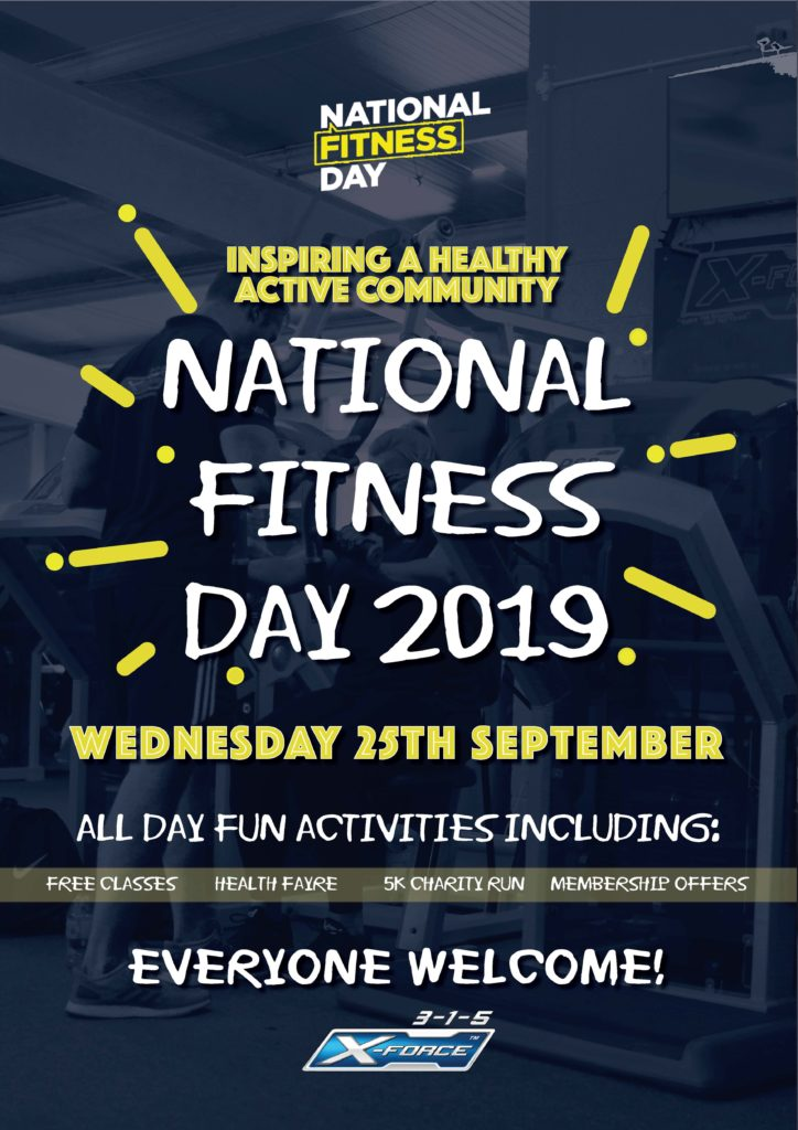NATIONAL FITNESS DAY Weds 25th Sept 2019