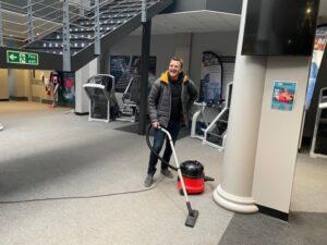 Sean cleaning 3-1-5 Health Club