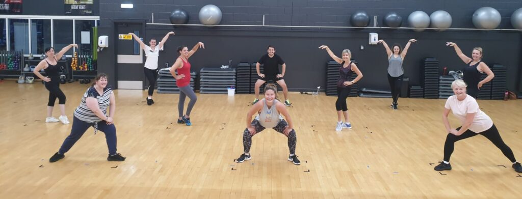 Group Zumba shot